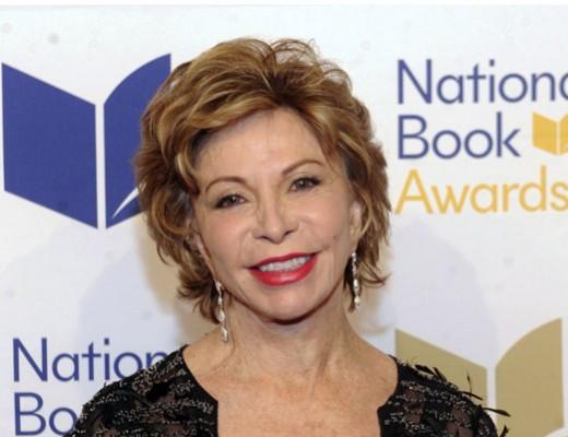 ایزابل آلنده در مراسم جایزهی کتاب ملی آمریکا