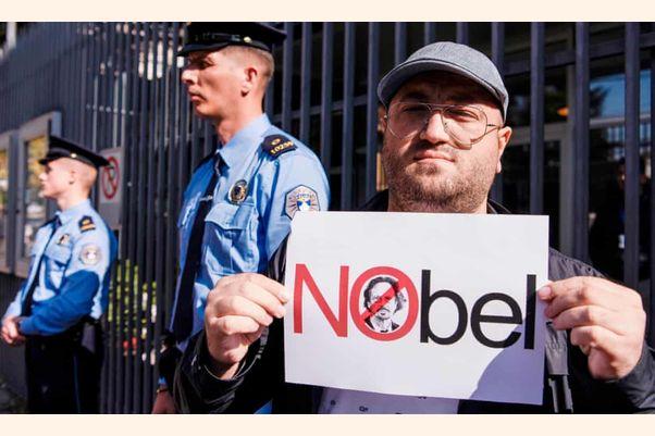اعتراض به نوبل پتر هانتکه